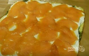 Сырный рулет с лососем - фото шаг 6