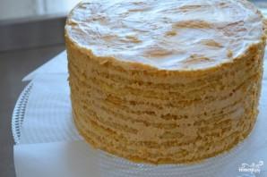 Медовый пирог со сметанным кремом - фото шаг 5