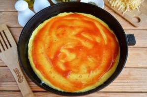 Омлет в стиле пиццы - фото шаг 6