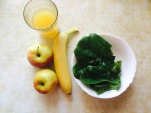 Бананово-яблочный смузи  - фото шаг 1