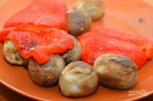 Салат из баклажанов с зеленью - фото шаг 3