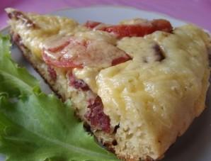 Пицца на сковороде с помидорами - фото шаг 4