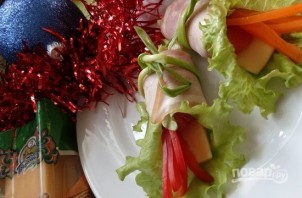 """Закуска """"Колокольчики"""" с сыром и грейпфрутом - фото шаг 5"""
