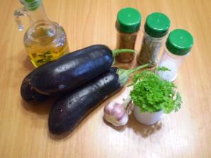 Жареные баклажаны с чесноком и зеленью - фото шаг 1