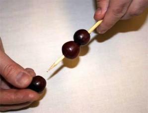 Букет из фруктов своими руками - фото шаг 4