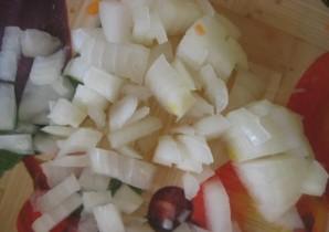 Салат с вареной куриной грудкой - фото шаг 4