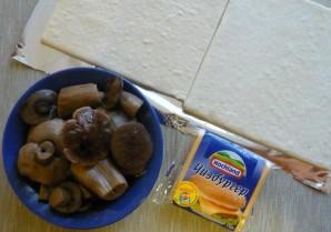 Пирог с грибами и сыром - фото шаг 1