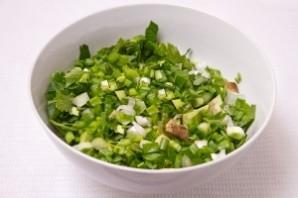 Салат с авокадо и огурцом - фото шаг 8