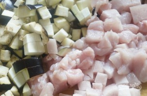 Мини-пироги с курицей, рисом и баклажанами - фото шаг 4