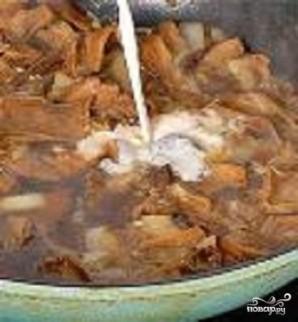 Куриные грудки с грибами в меду - фото шаг 4