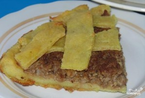 Открытый пирог с мясом и капустой - фото шаг 13