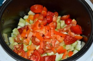 Салат из помидоров и кабачков на зиму - фото шаг 6