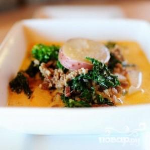 Суп с кале, картофелем и итальянской колбасой - фото шаг 7