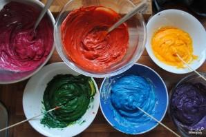 Торт Радуга с пищевыми красителями - фото шаг 4
