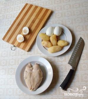 Салат с курицей и фасолью - фото шаг 3