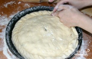 Пирог с шампиньонами - фото шаг 6