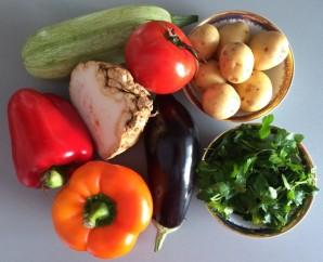 Овощи по-деревенски - фото шаг 1