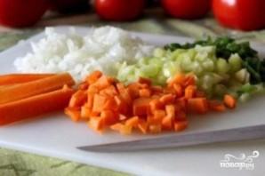 Томатный суп с сухариками - фото шаг 5