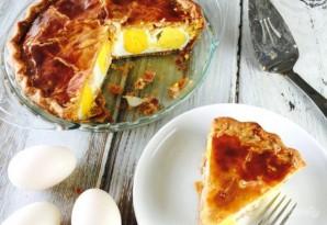 Пирог с яйцами, сыром и беконом - фото шаг 8