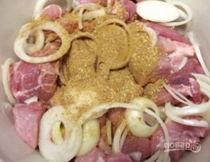 Шашлык на кефире из свинины - фото шаг 3