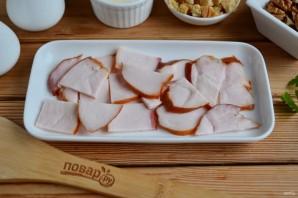 """Салат с грибами и сыром """"Искушение"""" - фото шаг 2"""