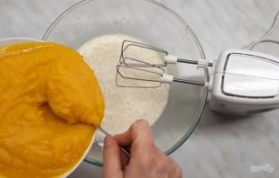 Пирог с тыквой, мёдом и орехами - фото шаг 4