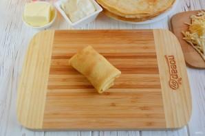 Блинчики, фаршированные сыром - фото шаг 3