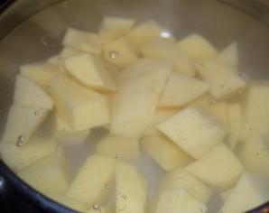 Суп-пюре картофельный с курицей - фото шаг 1