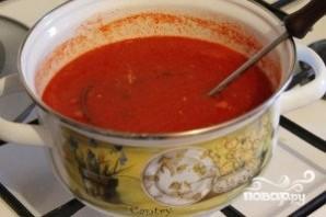 Томатный суп с сыром - фото шаг 4