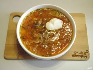 Борщ вегетарианский с грибами - фото шаг 11