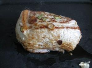 Мясо с чесноком в духовке - фото шаг 4