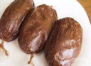 Шоколадная колбаска - фото шаг 4