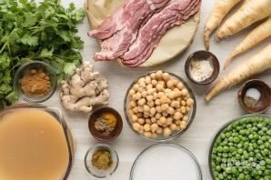 Суп-пюре из горошка и нута - фото шаг 1