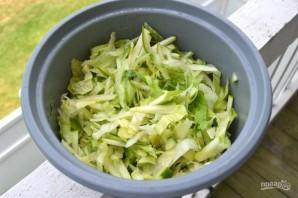 Салат с зелеными яблоками - фото шаг 4