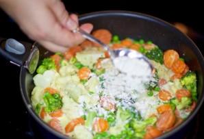 Овощи под сливочным соусом - фото шаг 7