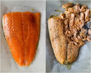 Салат с лососем и авокадо - фото шаг 3