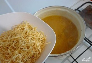 Суп из куриных потрохов с грибами - фото шаг 7
