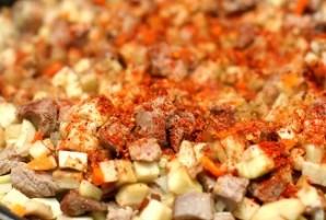 Мясо в лаваше - фото шаг 2