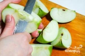 Окорочка с яблоками - фото шаг 4