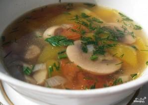 Суп с вешенками и шампиньонами - фото шаг 4