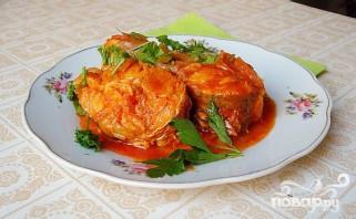 Хек в томатном соусе - фото шаг 6