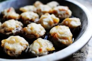 Шампиньоны под сыром в духовке - фото шаг 8