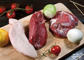 Шашлык из свинины в духовке - фото шаг 1