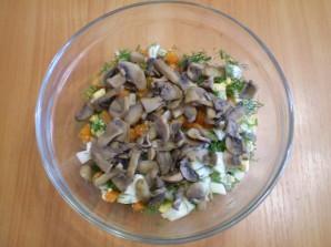 Салат с картошкой и грибами - фото шаг 4