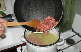 Суп с сосиской и яйцом - фото шаг 6