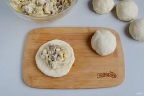 Сырные булочки с мясной начинкой - фото шаг 9