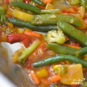 Кисло-сладкий овощной стир-фрай - фото шаг 6