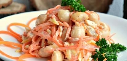Салат с отварной фасолью - фото шаг 4