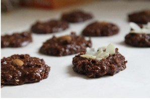Овсяное шоколадное печенье без выпечки - фото шаг 5