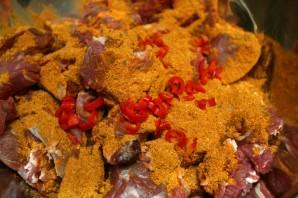 Баранина с томатом и курагой - фото шаг 6